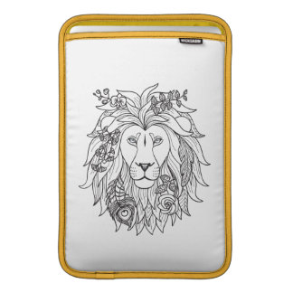 Lion And Flowers Doodle Sleeve For MacBook Air