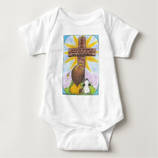 Lion and Lamb At the Cross Baby Bodysuit
