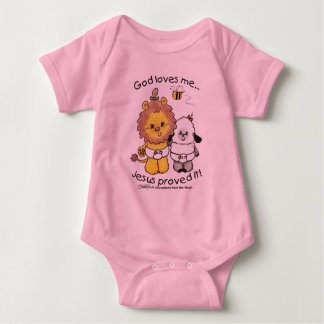 Lion and Lamb Babies Baby Bodysuit