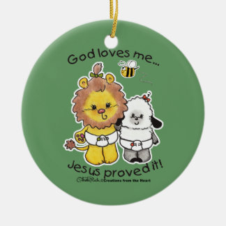 Lion and Lamb Babies Christmas Ornament
