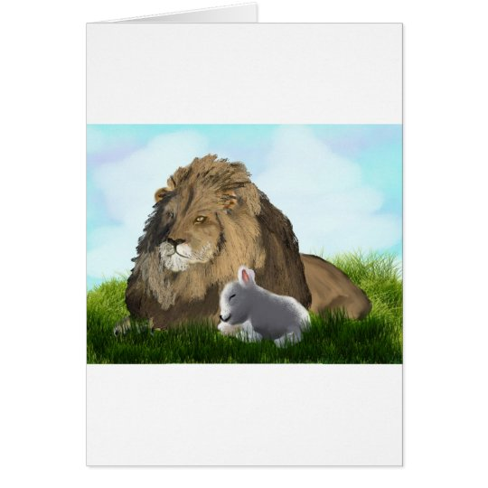 lion and lamb card