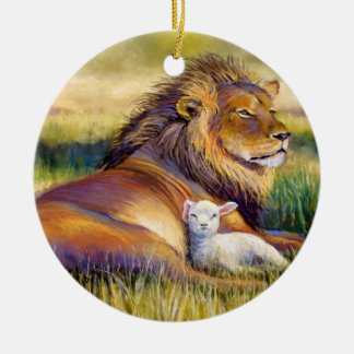 Lion and Lamb Ornament