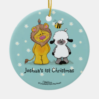 Lion and Lamb True Friends-1st Christmas Ornament