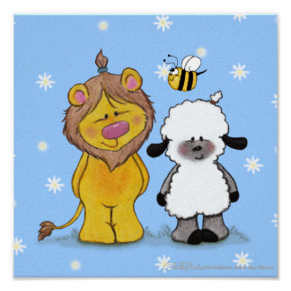 Lion and Lamb True Friends Poster