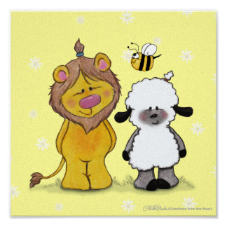 Lion and Lamb True Friends Print