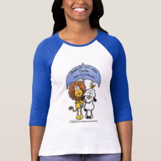 Lion and Lamb Under Umbrella T-Shirt