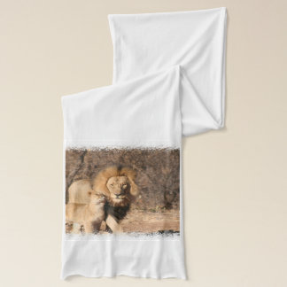 Lion and Lion Cub Scarf