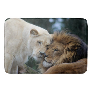 Lion and Lioness Bath Mat