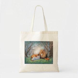 Lion and Me Tote Bag