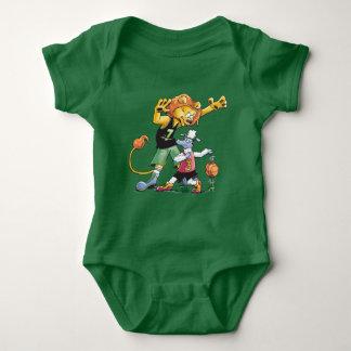 Lion and Sheep Basketball Baby Bodysuit