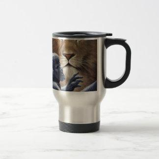 Lion and Statue Mug