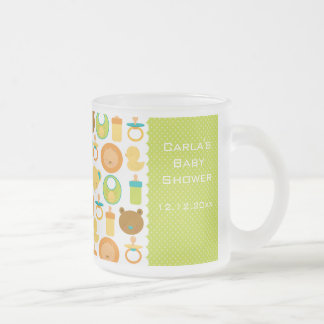 Lion and Teddy Bear Baby Shower Frosted Mug