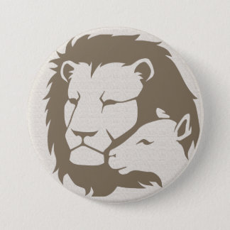 Lion and The Lamb 7.5 Cm Round Badge