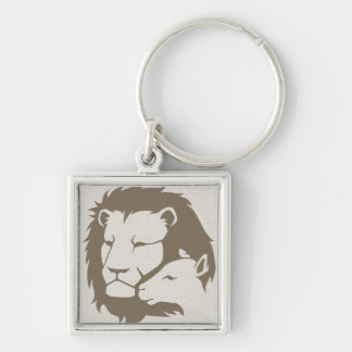 Lion and The Lamb Key Ring