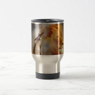 Lion and the Lamb Travel Mug