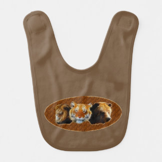 Lion And Tiger And Bear Bib