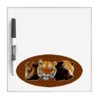 Lion And Tiger And Bear Dry Erase Whiteboard