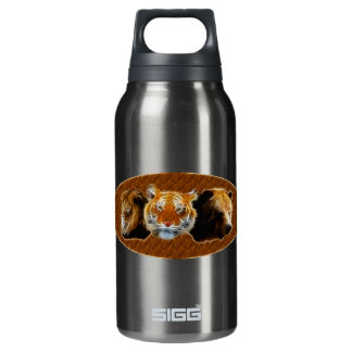 Lion And Tiger And Bear Insulated Water Bottle