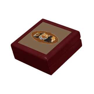 Lion And Tiger And Bear Small Square Gift Box