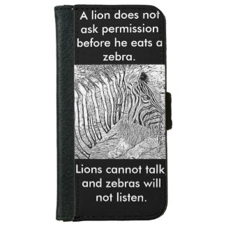 Lion and Zebra iphone protection cover