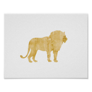 Lion, Animal, Safari style, Boy's room poster