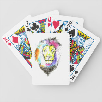 lion art bicycle playing cards