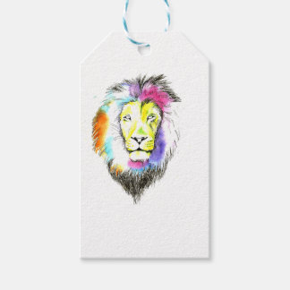lion art gift tags