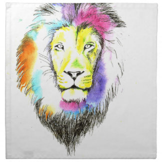 lion art napkin
