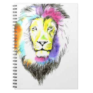 lion art notebook