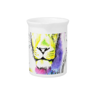 lion art pitcher
