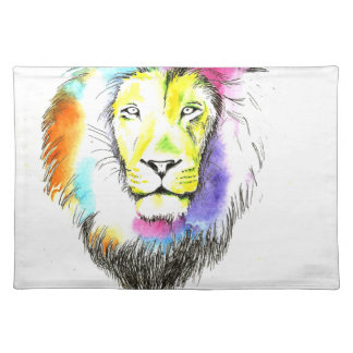 lion art placemat