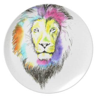 lion art plate