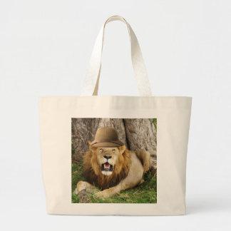 Lion at Maasai Mara 1 Large Tote Bag