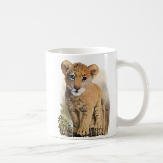 Lion baby coffee mug