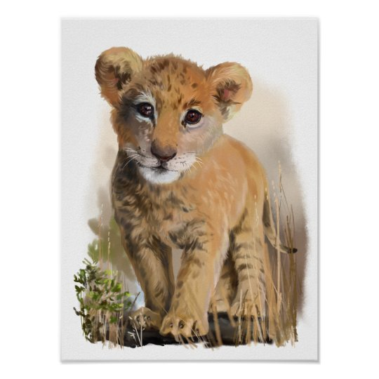 Lion baby poster