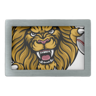 Lion Baseball Ball Sports Mascot Belt Buckle