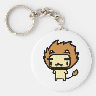 Lion Basic Round Button Key Ring