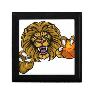 Lion Basketball Ball Sports Mascot Gift Box