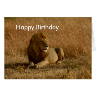 Lion Birthday card. Card