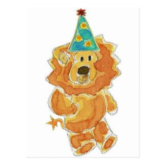 Lion Birthday Hat Postcard