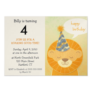 Lion Birthday Party Invitations