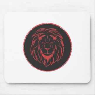 Lion Black&Red colors Mouse Pad