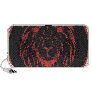 Lion Black&Red colors iPhone Speaker