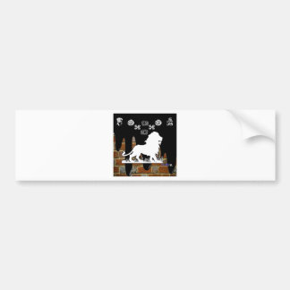 LION BRICK BACKGROUND PRODUCTS BUMPER STICKERS