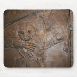 Lion & Bull: Persian Bas-relief Mouse Pad