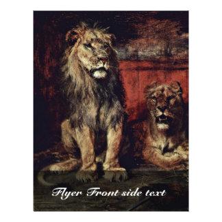 Lion By Meyerheim Paul Friedrich (Best Quality) 21.5 Cm X 28 Cm Flyer