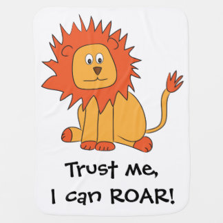 Lion can ROAR baby blanket