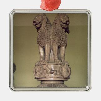 Lion capital from the Pillar of Emperor Ashoka Christmas Ornament