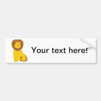 Lion cartoon bumper stickers