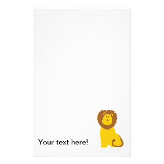 Lion cartoon personalized stationery